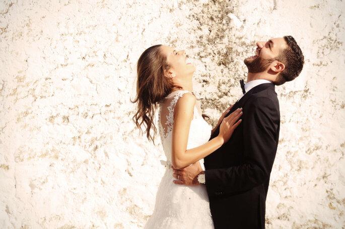 Marco Marrocco Fotostudio - coppia di sposi che ride