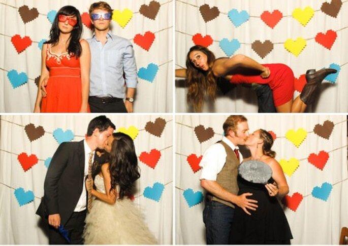 Photobooth als lustige Hochzeitsfoto-Alternative – Foto: David Stubbs
