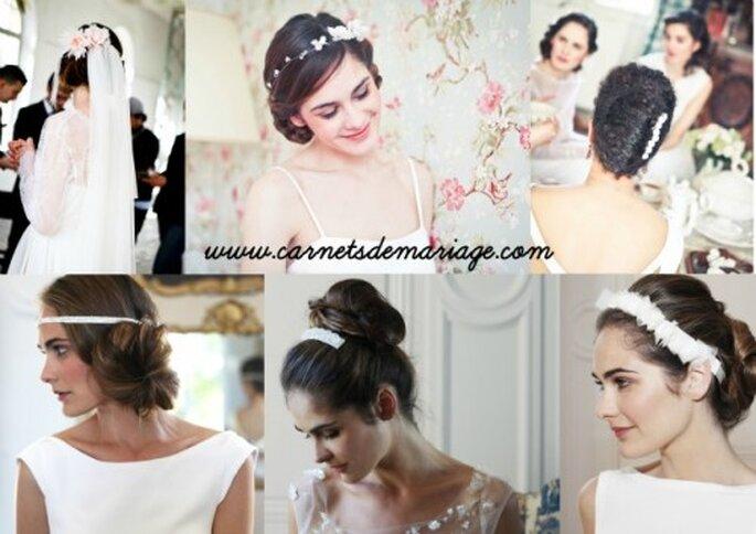 Couronne, fleurs ou headband font merveille dans une coiffure de mariée