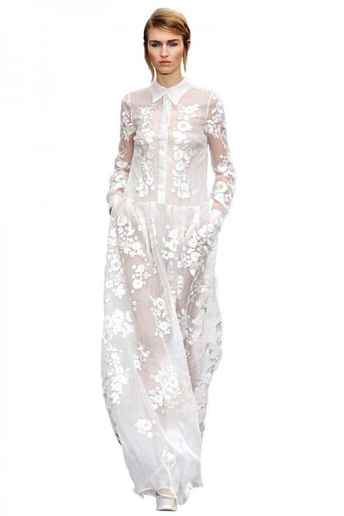 Vestidos de novia 2015 con cuellos camiseros - Foto Erdem