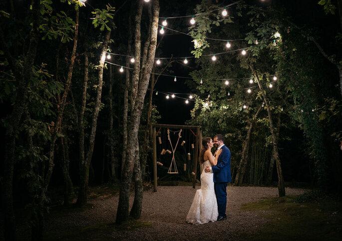 Quinta do Bambus à noite