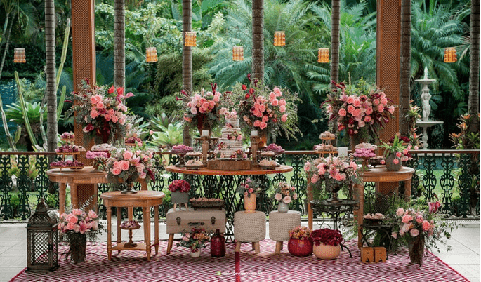 decoração rustica casamento