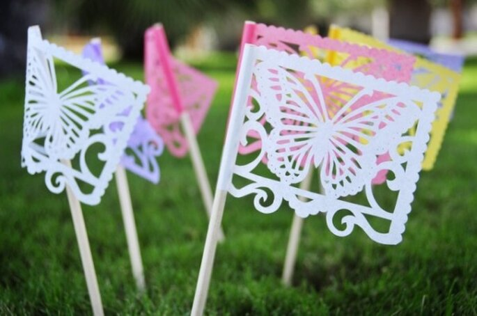 Butterfly decor - Photo: Ay Mujer