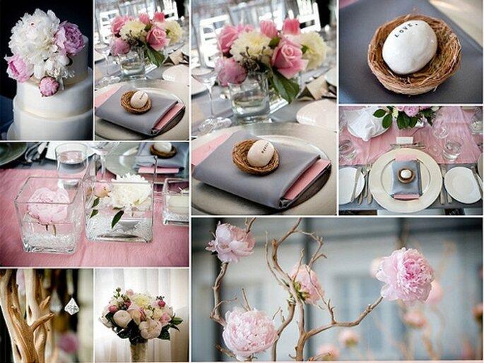 Romantisch Und Marchenhaft Hochzeitsdekoration In Rosa