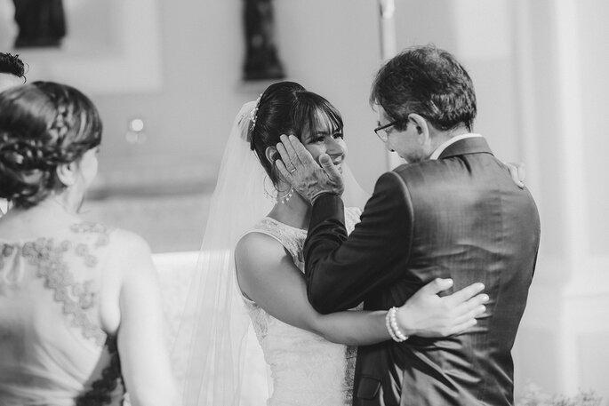 Pai e filha no casamento