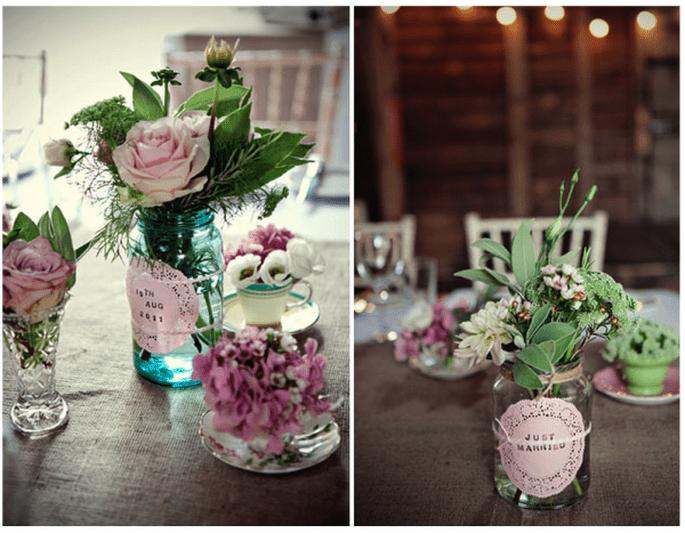 Decoración original para una boda vintage - Foto Marianne Taylor Photography
