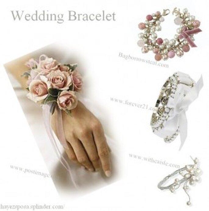 Bouquet a forma di bracciale