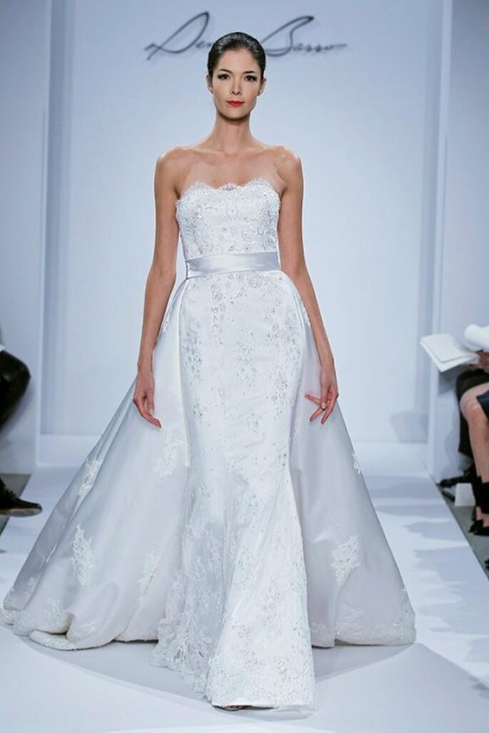 Vestido de novia 2014 corte sirena con cauda removible - Foto Dennis Basso