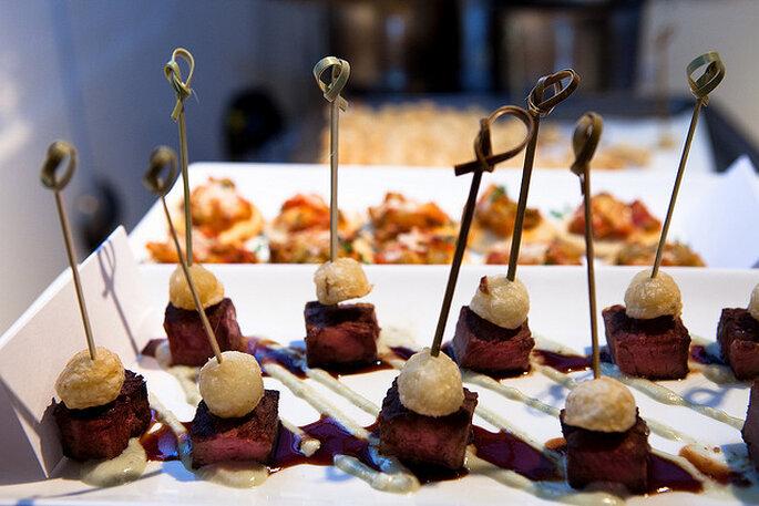 Catering de una boda en un viñedo. Foto: OPUS Hotels