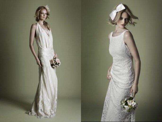robes classiques style vintage pour des mari es romantiques. Black Bedroom Furniture Sets. Home Design Ideas