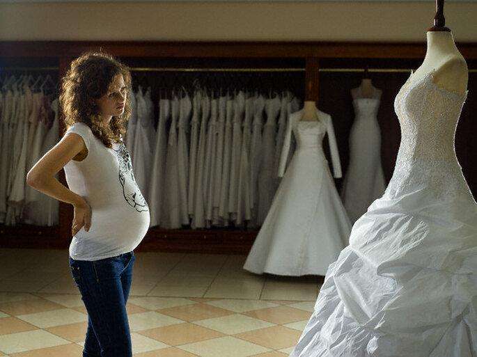 Moda para novias embarazadas