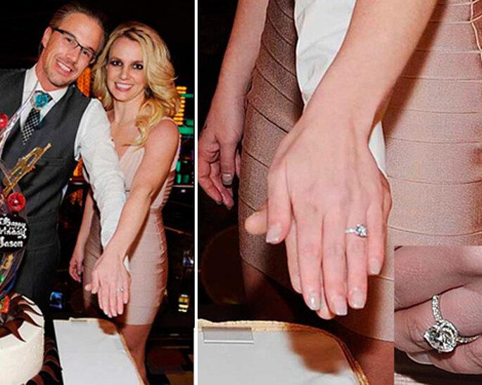 Anillos de compromiso de las famosas - Fotos: Twitter Britney Spears