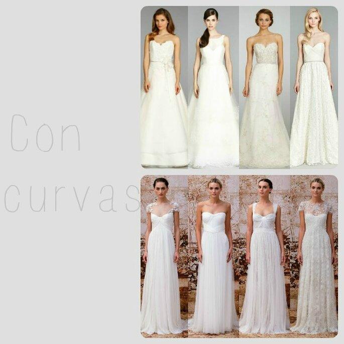 ¿Tienes curvas? Apuesta por un vestido de novia corte A o silueta imperio - Foto Zankyou