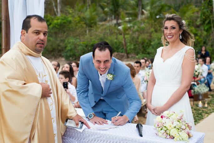 Assinatura noivo