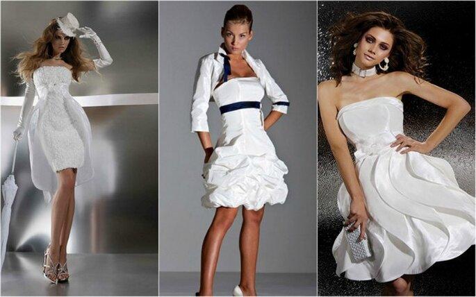 La robe de mariée courte, toujours aussi tendance ! Collection Gritti Spose 2012 - Photo www.grittispose.com
