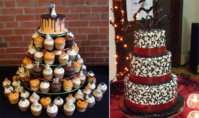 Pastel de bodas inspirado en Halloween - Foto Cupcakeology y Ryke's Bakery, Catering, Cafe en Flickr