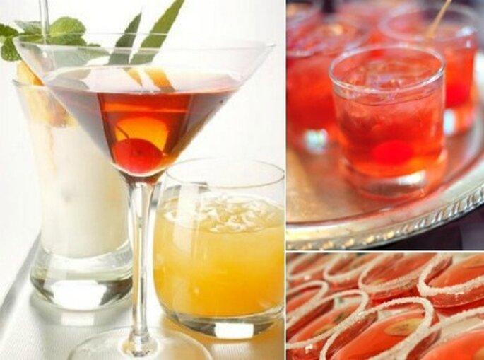 Las bebidas ofrecidas durante la fiesta están a cargo del servicio de catering