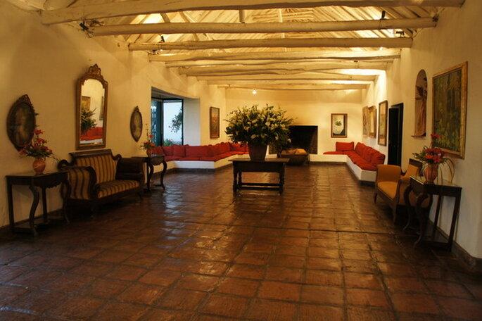 Especio interior de la casa. Hacienda Fagua, Cajicá. Foto: Artevisión Wedding Photography