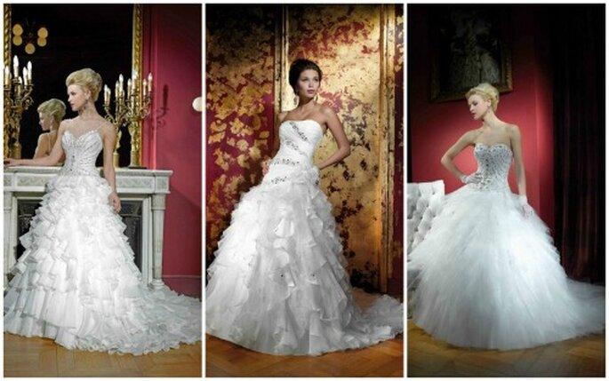 Rien de tel qu'une jupe vaporeuse pour ressembler à une princesse le jour du mariage ! Collection Kelly Star 2012