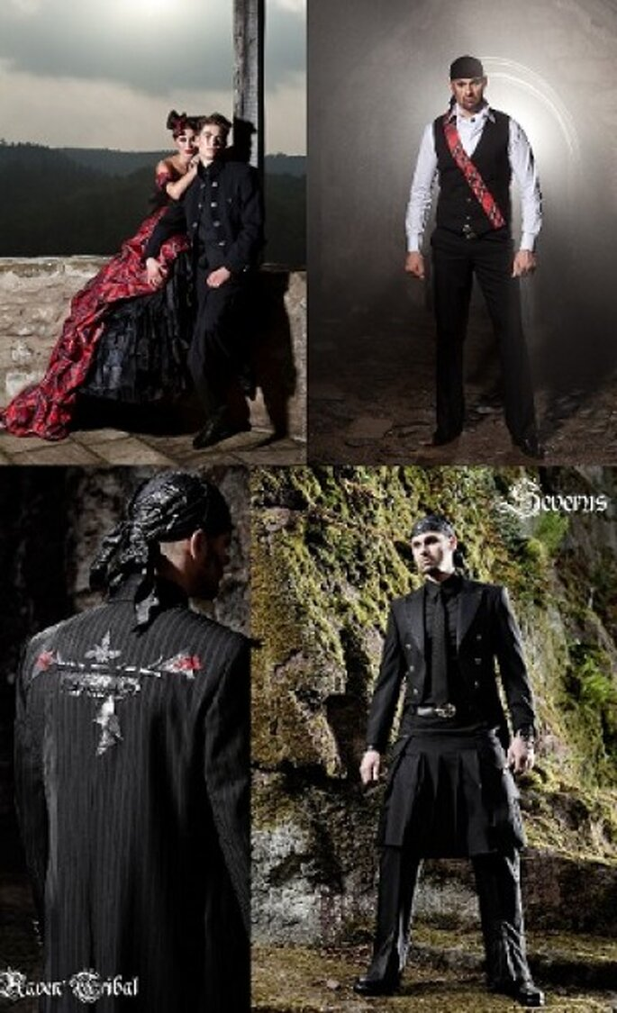 Extravagante Anzüge und Outfits für den Bräutigam