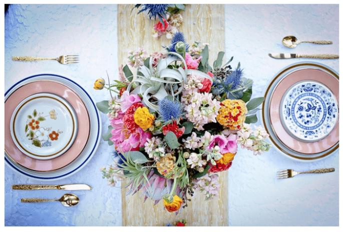 Decoración original para una boda vintage - Foto Robyn Preston Photography