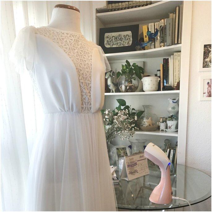 Photo : Défroisseur Philips - robe de mariée : Atelier Lamaryé