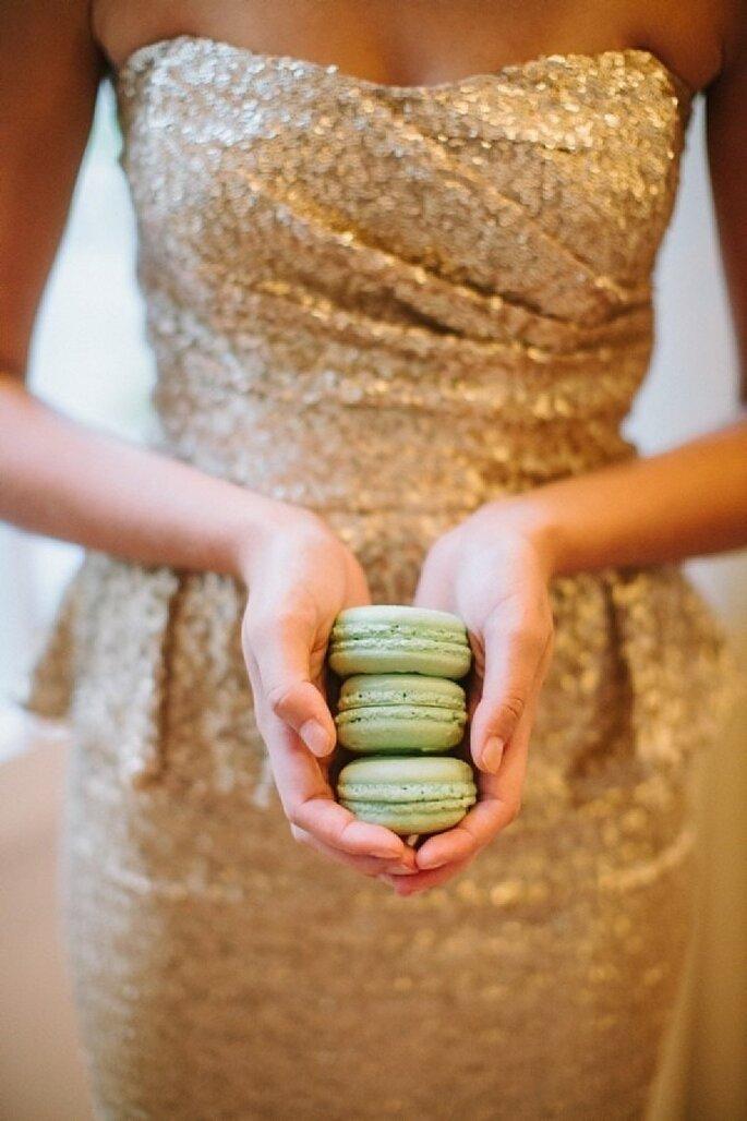 Glitter y pedrería en la decoración de tu boda - Foto Haley Sheffield