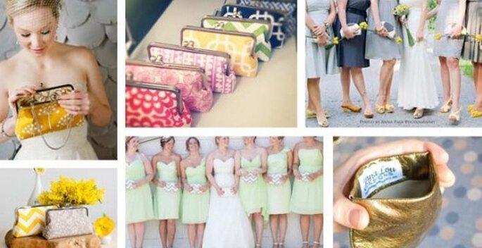 Clutches para boda. Foto de Jenna Lou Design.