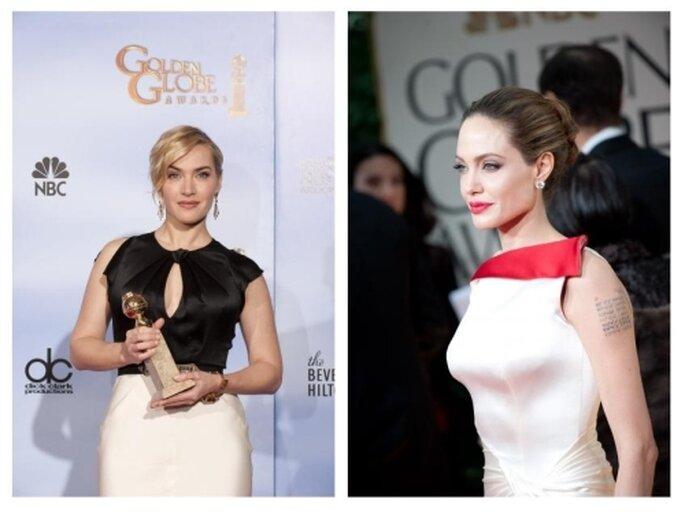 Kate Wislet, Angelina Jollie, Golden Globes 2012
