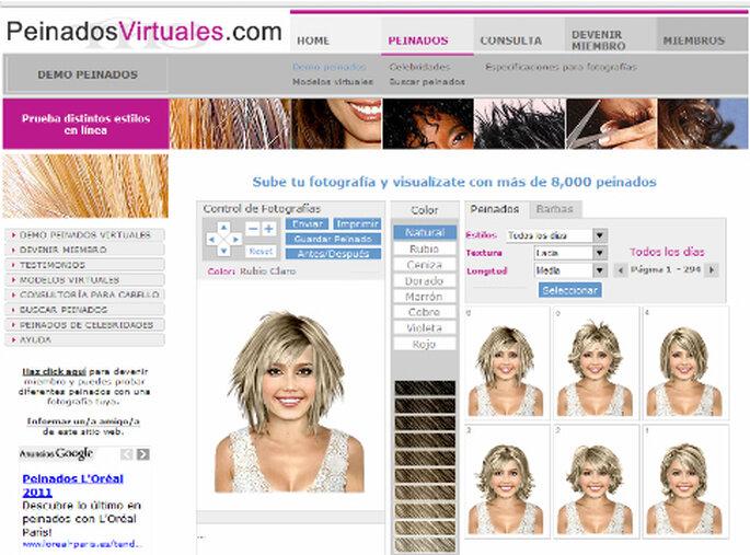 Simulador de penteados - PeinadosVirtuales.com