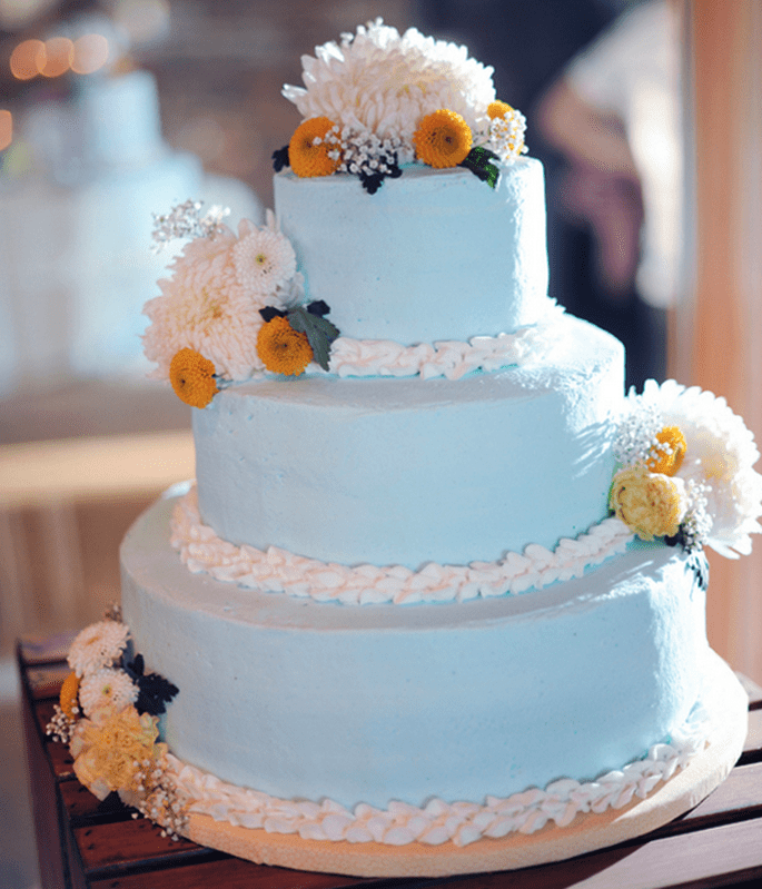 Pasteles de boda multicolor para 2014 - Foto Two Birds Photography