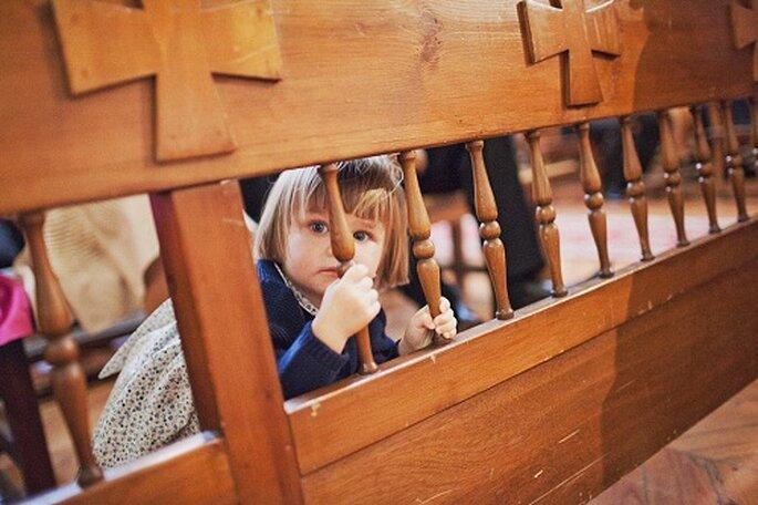 Los niños también son protagonistas del enlace. Foto: Díez & Bordons.