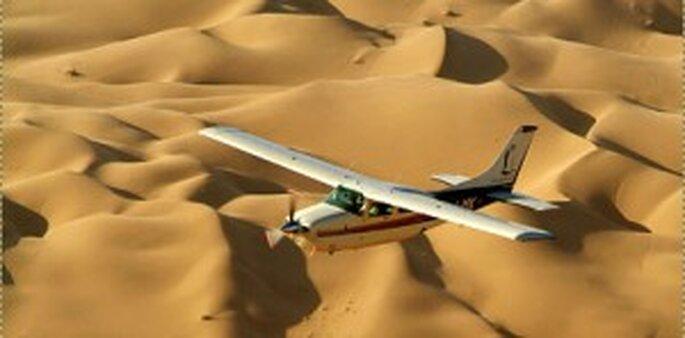 Hochzeitsreise nach Namibia - Rundflug