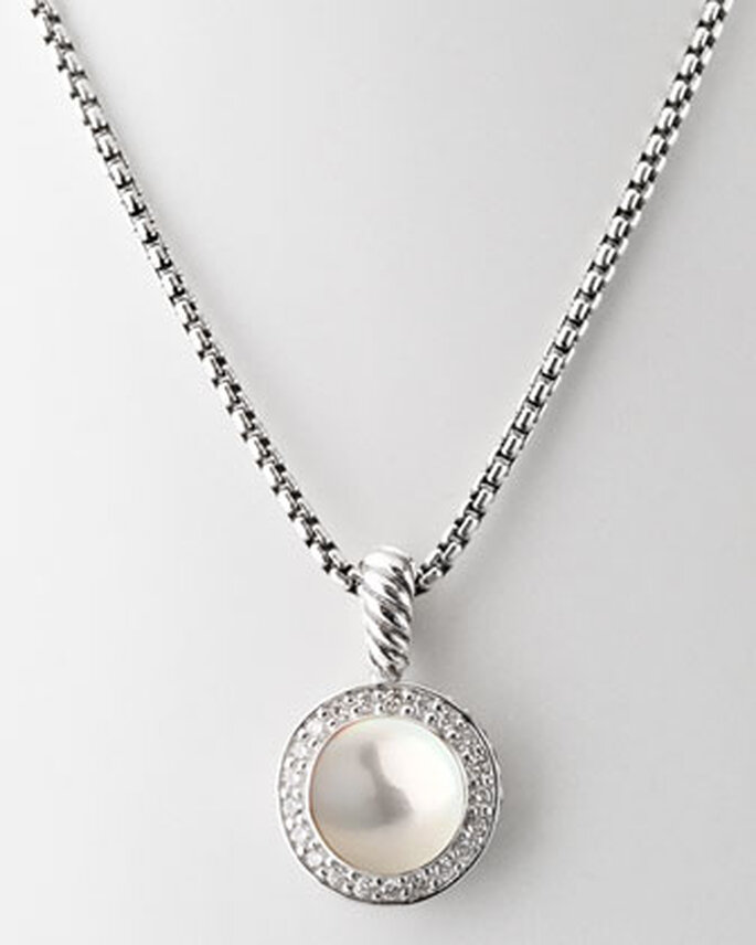 Collar de Neimann Marcus de diamantes y perla