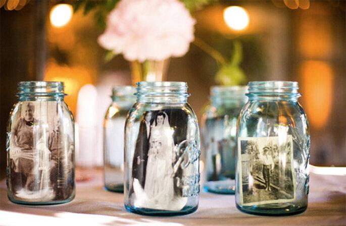 Fotos en una jarra. Foto de Oh Lovely Day