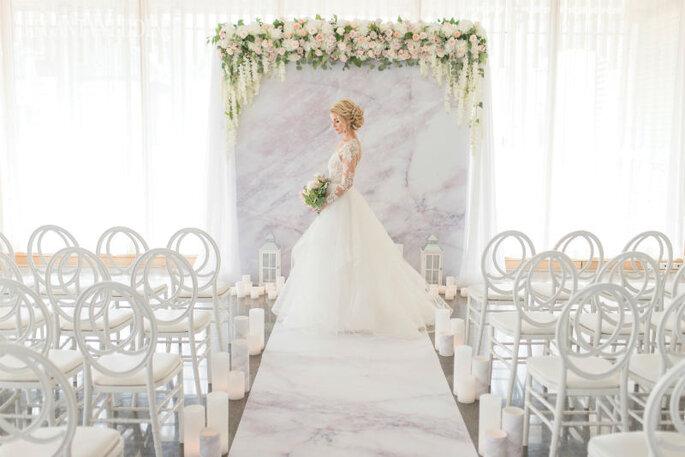 Backdrop para a cerimônia marble