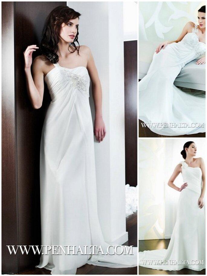 Vestidos de Noiva Penhalta 2012 - vestidos com apenas uma alça