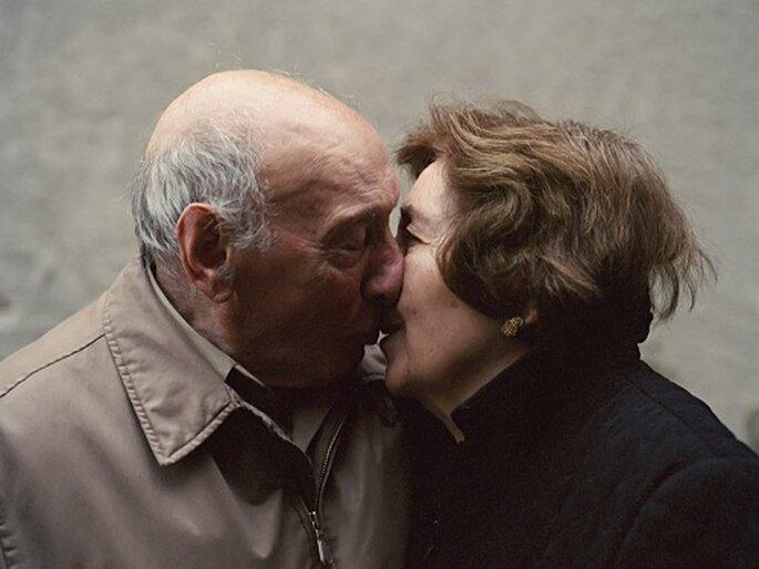 Angie Terranova asegura no darse cuenta del paso del tiempo junto a su marido. Foto: Lauren Fleishman.
