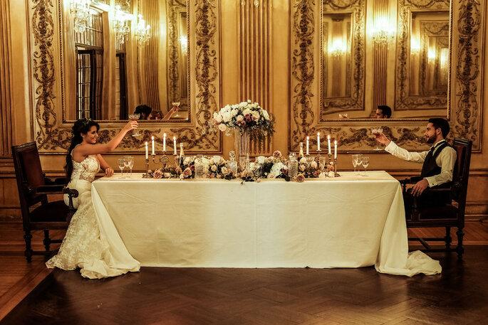 Noivos no Palácio Ateneu Comercial - Porto