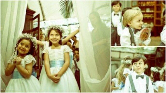 Niños pajecitos para la boda