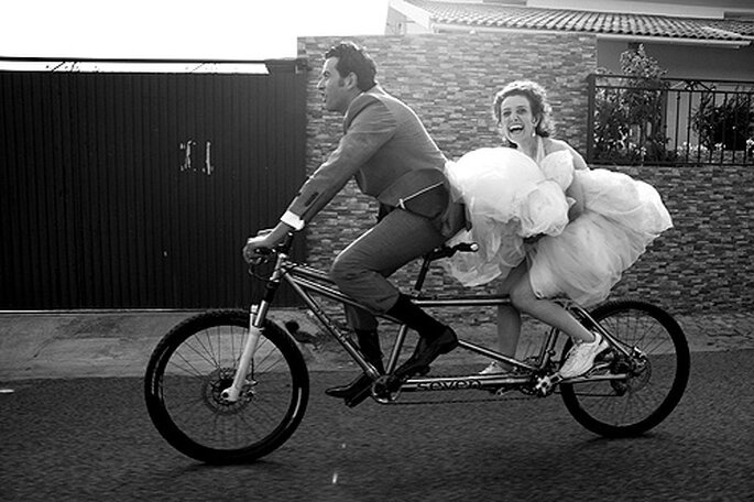 Pon una bicicleta en tu boda. Foto: Nuno Palha