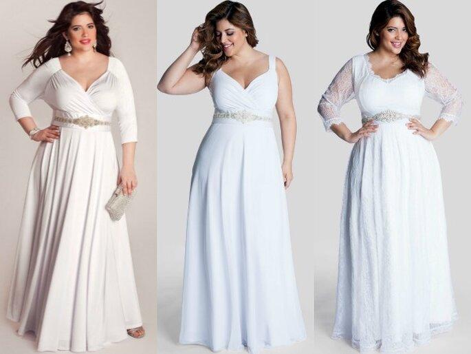 Increíbles vestidos de novia para chicas plus size - Foto Iggi