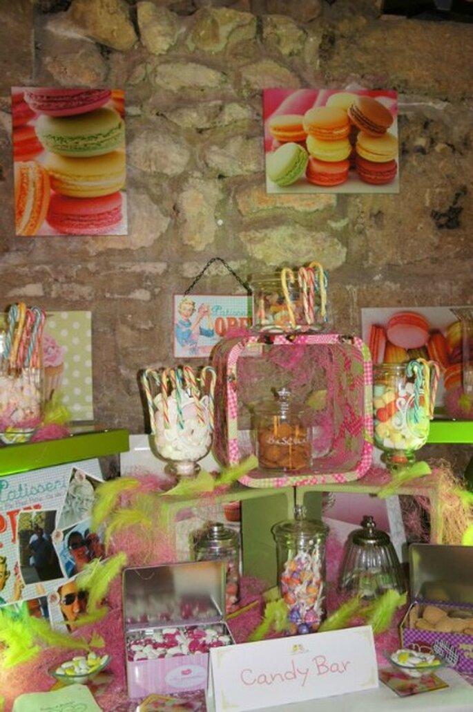 """Il """"candy bar"""" è davvero una splendida idea, anche ad un matrimonio! Foto: One Day Event"""