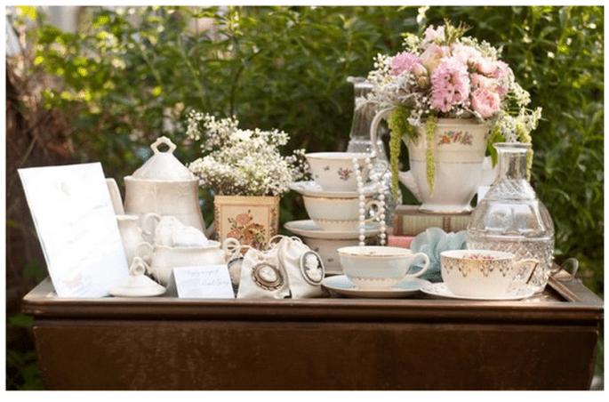 Decoración original para una boda vintage - Foto Meghan Christine Photography