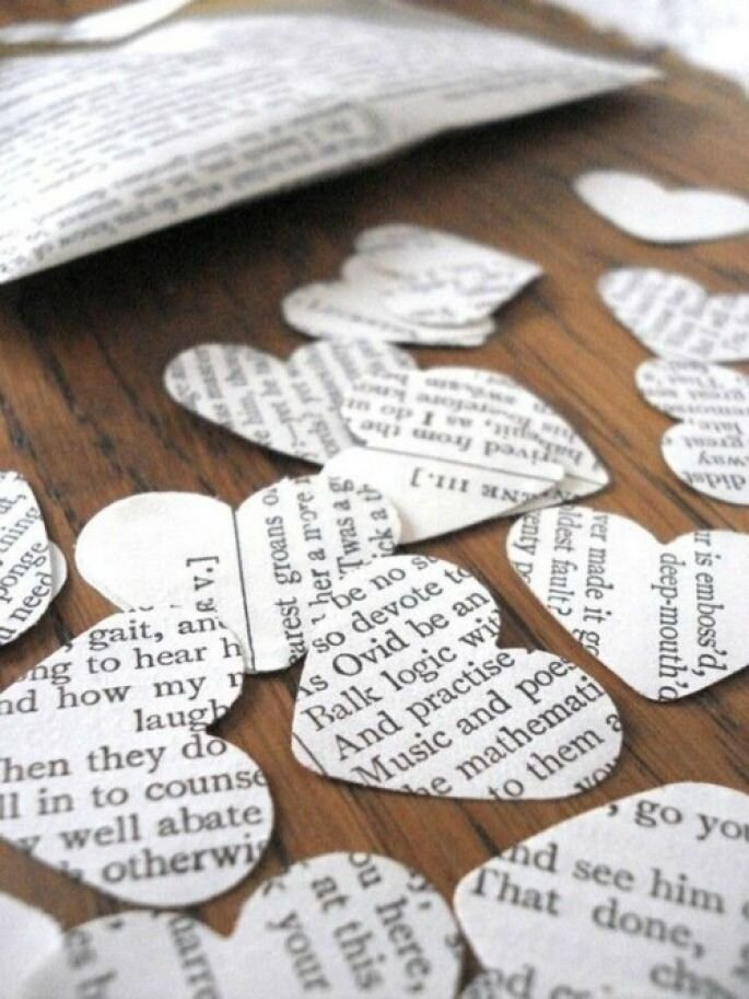 Shakespeare Wedding Confeti by Bookity