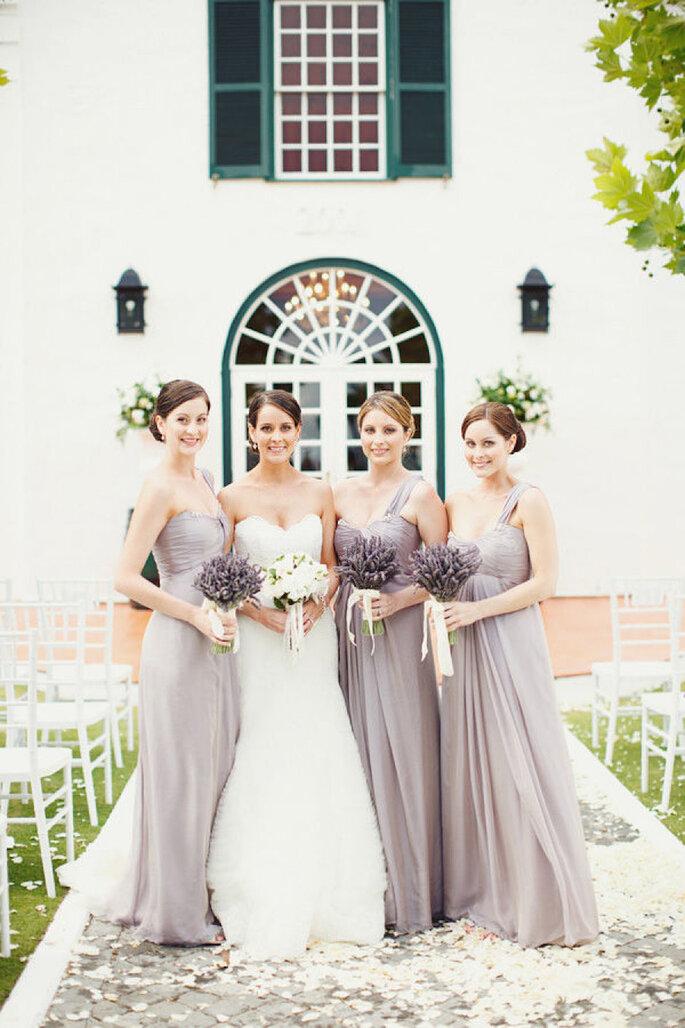Vestidos para damas de boda en color lavanda - Samm Blake