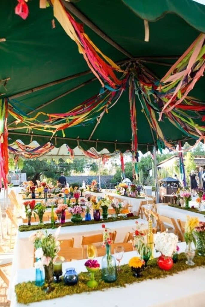 streamer wedding decorations a fun amp colorful diy idea