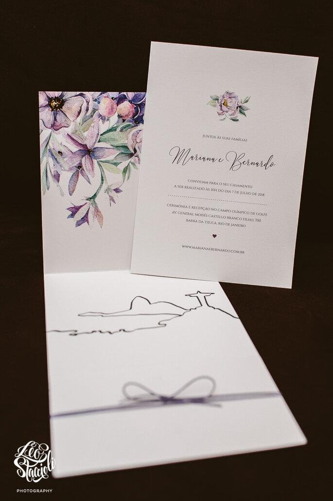 Identidade visual e convites: Bianco Blanc Paperie - Foto: Leo Staccioli Photography