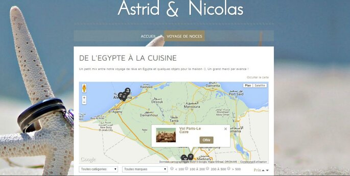 Vous pourrez présenter les étapes de votre voyage sur une carte de type Google Maps