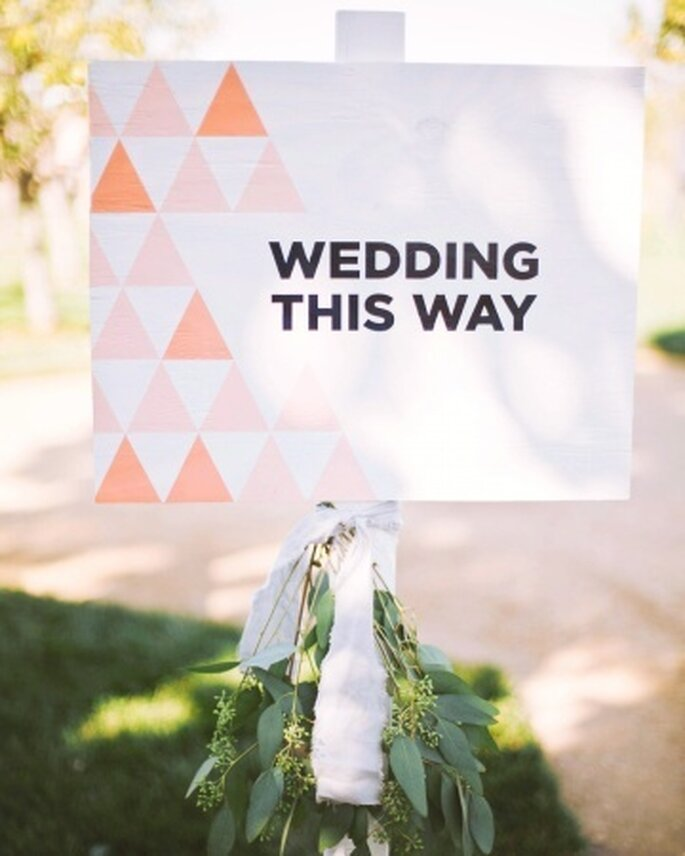 Hier geht's lang, Foto: Martha Stewart Weddings